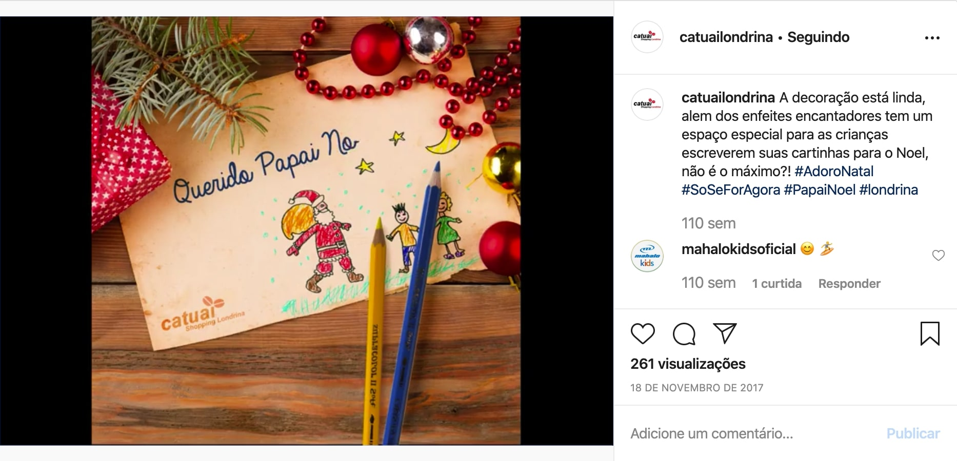 Campanha de Instagram dos clientes da Oxi Marketing Digital e Websites