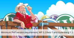 Minimum PHP version requirement, WP 5.2 Beta 1 and Gutenberg 5.3 • Yoast