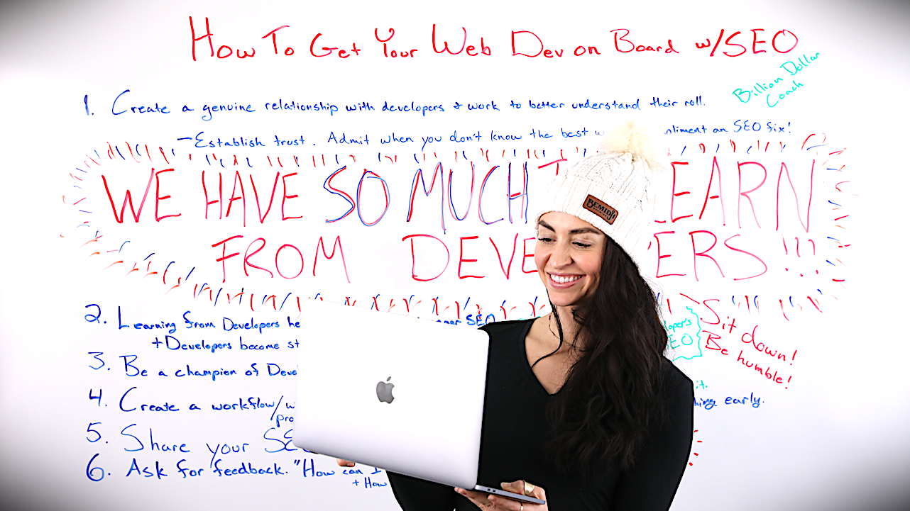 How to Get Your Web Developer on Board with SEO [Bonus PDF] Whiteboard Friday
